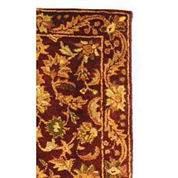 Safavieh Handmade Exquisite Wine/ Gold Wool Runner (2'3 x 8')