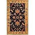 Safavieh Handmade Rodeo Drive Black/ Gold New Zealand Wool Rug - 7'6' x 9'6'