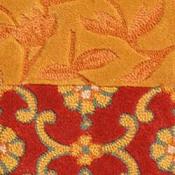 Safavieh Handmade Rodeo Drive Bohemian Collage Rust/ Gold Wool Rug (2' x 3') - Thumbnail 2