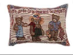 Antique Little Girls Tapestry Throw Pillows (Set of 2)