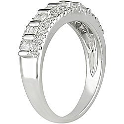 Miadora 10k White Gold 1/2ct TDW Diamond Ring - Thumbnail 1