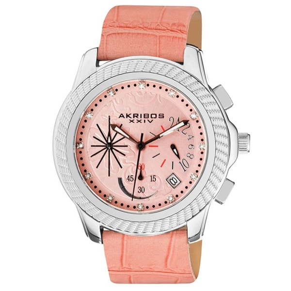 Akribos XXIV Mykonos Women's Chronograph Quartz Strap Watch