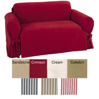 Classic Slipcovers Brushed Twill Loveseat Slipcover (More options available)