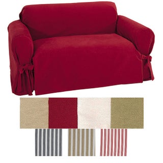 Classic Slipcovers Brushed Twill Loveseat Slipcover (2 options available)