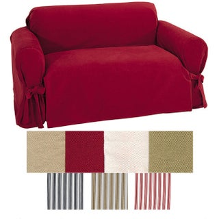 Classic Slipcovers Brushed Twill Chair Slipcover (Option: Cream)