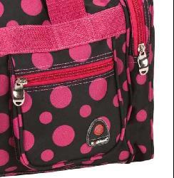 Rockland Bel-Air Black/Pink Dot 19-inch Carry-On Tote / Duffel Bag - Thumbnail 1