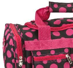 Rockland Bel-Air Black/Pink Dot 19-inch Carry-On Tote / Duffel Bag - Thumbnail 2