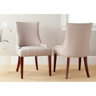 Safavieh En Vogue Dining Becca Beige Linen Dining Chair