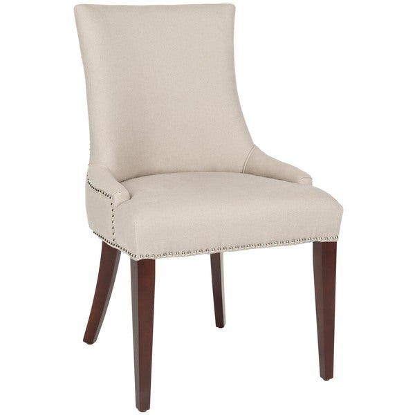 Safavieh En Vogue Dining Becca Beige Linen Side Chair