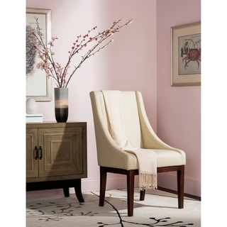 Safavieh En Vogue Dining Soho Creme Leather Arm Chair