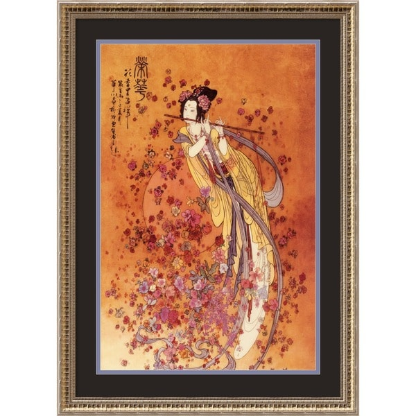 Framed Art Print 'Goddess of Prosperity' by Chinese 23 x 31-inch
