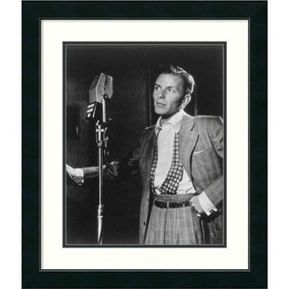 William P. Gottlieb 'Golden Age of Jazz, Frank Sinatra' Framed Art Print