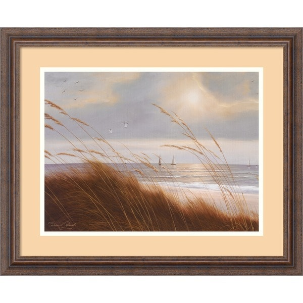 Framed Art Print 'Sailboat Breezeway' by Diane Romanello 23 x 19-inch