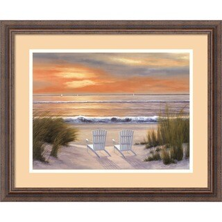 Framed Art Print 'Paradise Sunset' by Diane Romanello 23 x 19-inch