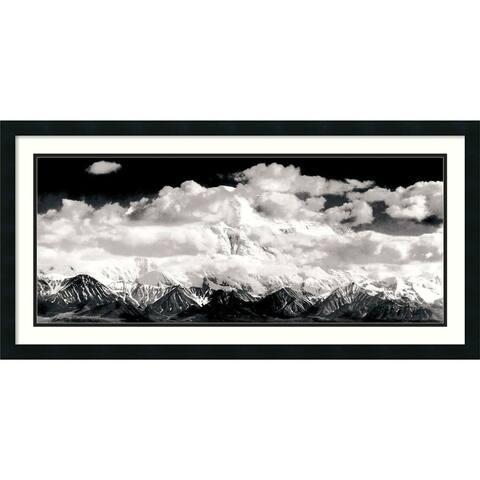 Framed Art Print 'Mount McKinley Range, Clouds, Denali National Park, Alaska, 1948' by Ansel Adams 39 x 20-inch