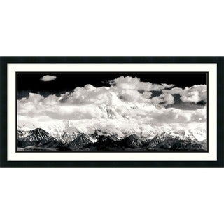 Framed Art Print 'Mount McKinley Range, Clouds, Denali National Park, Alaska, 1948' by Ansel Adams 39 x 20-inch