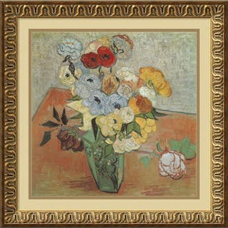 Framed Art Print 'Roses and Anemones' by Vincent van Gogh 22 x 22-inch|https://ak1.ostkcdn.com/images/products/4039315/P12059906.jpg?impolicy=medium