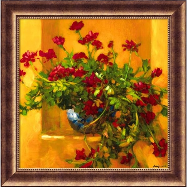 Framed Art Print 'Ivy Geraniums' by Philip Craig 30 x 30-inch