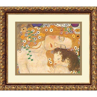 Framed Art Print 'Three Ages of Woman - Mom and Child (Detail IV), 1905' by Gustav Klimt 15 x 13-|https://ak1.ostkcdn.com/images/products/4039333/P12059917.jpg?impolicy=medium