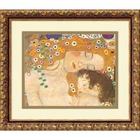 Framed Art Print 'Three Ages of Woman - Mom and Child (Detail IV), 1905' by Gustav Klimt 15 x 13-