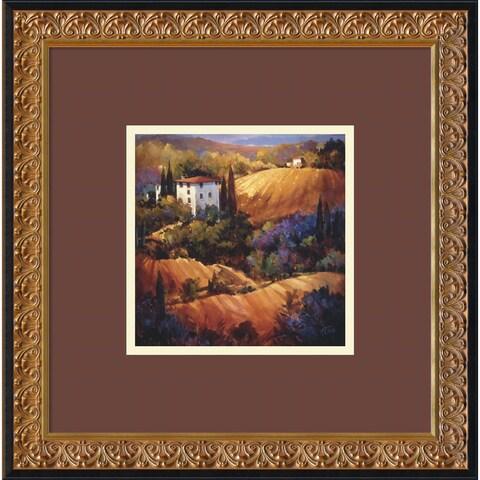 Framed Art Print 'Evening Glow Tuscany' by Nancy O'Toole 18 x 18-inch