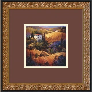 Framed Art Print 'Evening Glow Tuscany' by Nancy O'Toole 18 x 18-inch