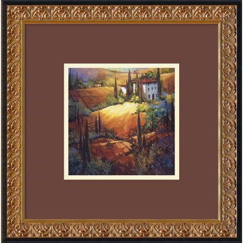 Framed Art Print 'Morning Light Tuscany' by Nancy O'Toole 18 x 18-inch