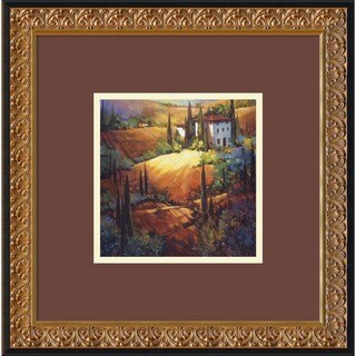 Framed Art Print 'Morning Light Tuscany' by Nancy O'Toole 18 x 18-inch