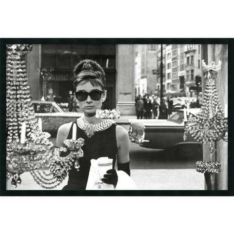 Framed Art Print Audrey Hepburn Breakfast at Tiffany's (Window) 38 x 26-inch