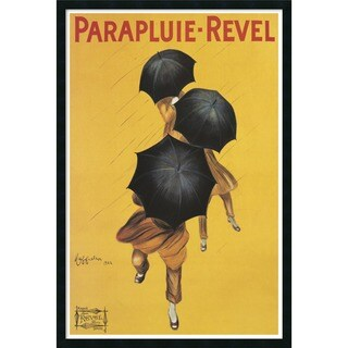 Leonetto Cappiello 'Parapluie Revel' Framed Textured Art - YELLOW