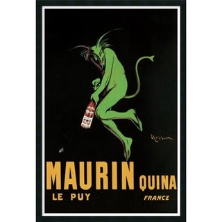 Leonetto Cappiello 'Maurin Quina, 1920 ca' Framed Art Print with Gel Coated Finish