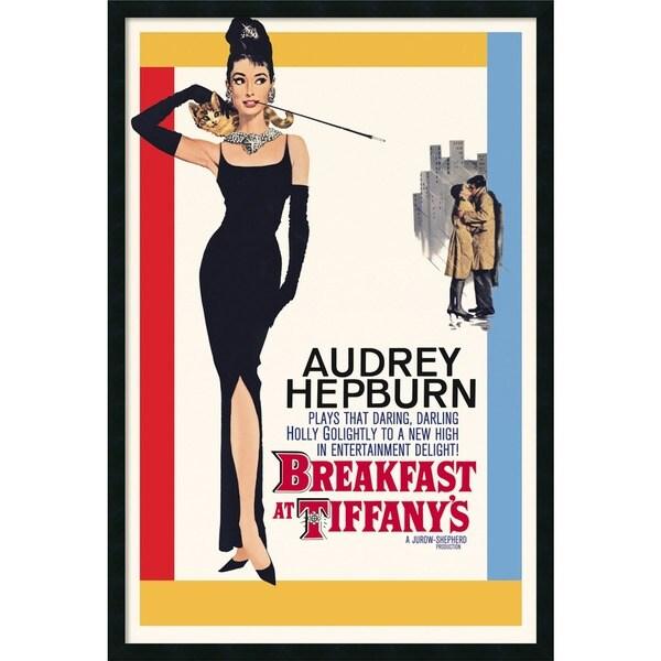 Framed Art Print Audrey Hepburn - Breakfast at Tiffany's 26 x 38-inch