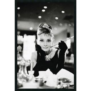 Framed Art Print Audrey Hepburn Breakfast at Tiffany's 26 x 38-inch