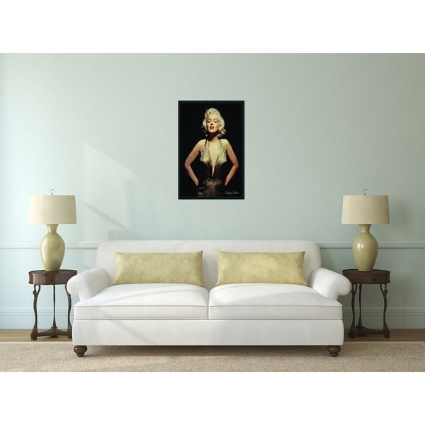 Framed Art Print Marilyn Monroe (Gold) 26 X 38 Inch   Free Shipping Today    Overstock.com   12059950 Part 38