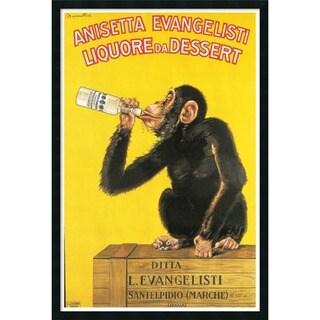 Framed Art Print Anisetta Evangelisti Liquore da Dessert (ca. 1925) by Carlo Biscaretti 26 x 38-inch