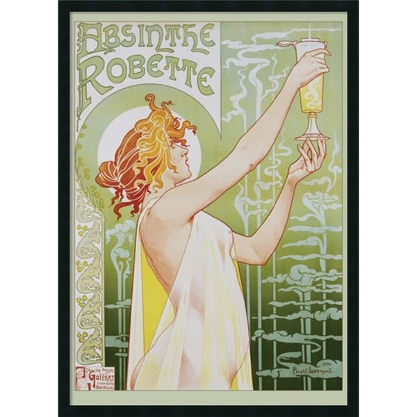 Framed Art Print Robette Absinthe, 1896 by Privat Livemont 26 x 38-inch