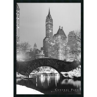 Framed Art Print Central Park 26 x 38-inch