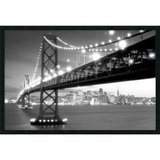 """San Francisco"" Framed Wall Art Print with Gel Coated Finish"
