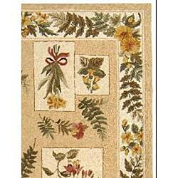 Safavieh Hand-hooked Garden Ivory Wool Rug (6' x 9') - Thumbnail 1