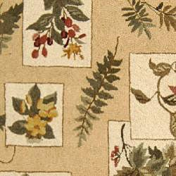 Safavieh Hand-hooked Garden Ivory Wool Rug (6' x 9') - Thumbnail 2