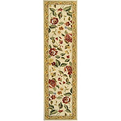 Safavieh Hand-hooked Boni Ivory/ Beige Wool Rug (2'6 x 8')