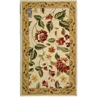 Safavieh Hand-hooked Boni Ivory/ Beige Wool Rug - 2'9 x 4'9
