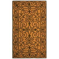 Safavieh Hand-hooked Iron Gate Yellow/ Light Green Wool Rug - 2'9 x 4'9