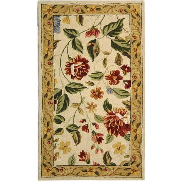 Safavieh Hand-hooked Boni Ivory/ Beige Wool Rug - 2'6 x 4'