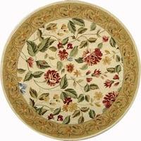 Safavieh Hand-hooked Boni Ivory/ Beige Wool Rug - 4' x 4' Round