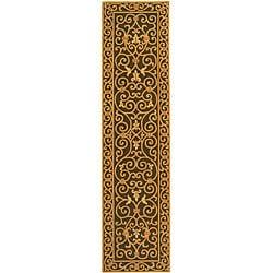 Safavieh Hand-hooked Iron Gate Light Green Wool Runner (2'6 x 10')