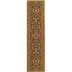 Safavieh Hand-hooked Iron Gate Light Green Wool Runner (2'6 x 12')