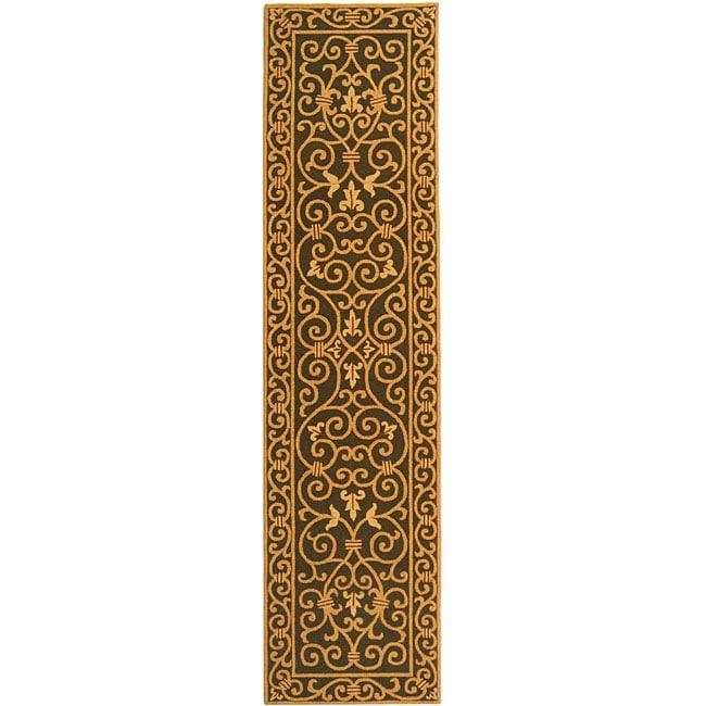 Safavieh Hand-hooked Iron Gate Light Green Wool Runner (2'6 x 6')