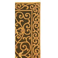 Safavieh Hand-hooked Iron Gate Light Green Wool Runner (2'6 x 6') - Thumbnail 1