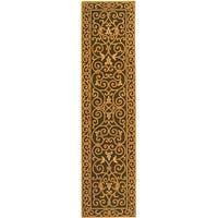 Safavieh Hand-hooked Iron Gate Light Green Wool Runner Rug - 2'6 x 8'